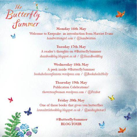 butterfly Summer blog tour poster